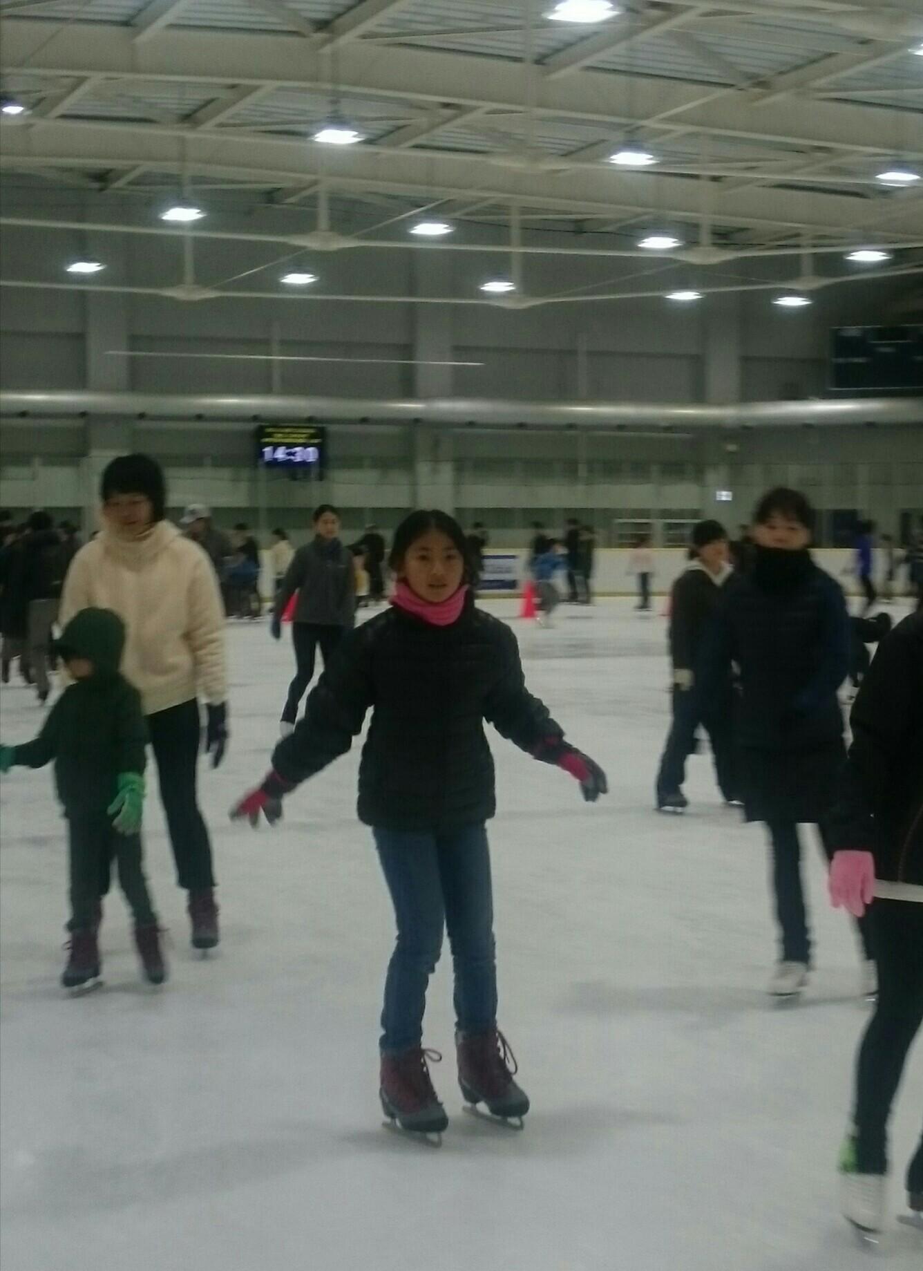 初スケート